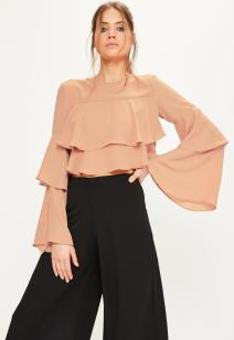 nude-layered-frill-crop-top