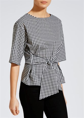 gingham-tie-front-blouse